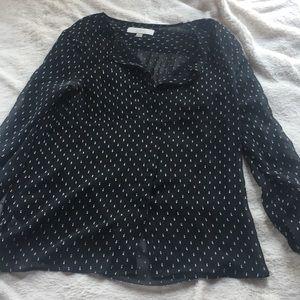 Loft textured button down shirt